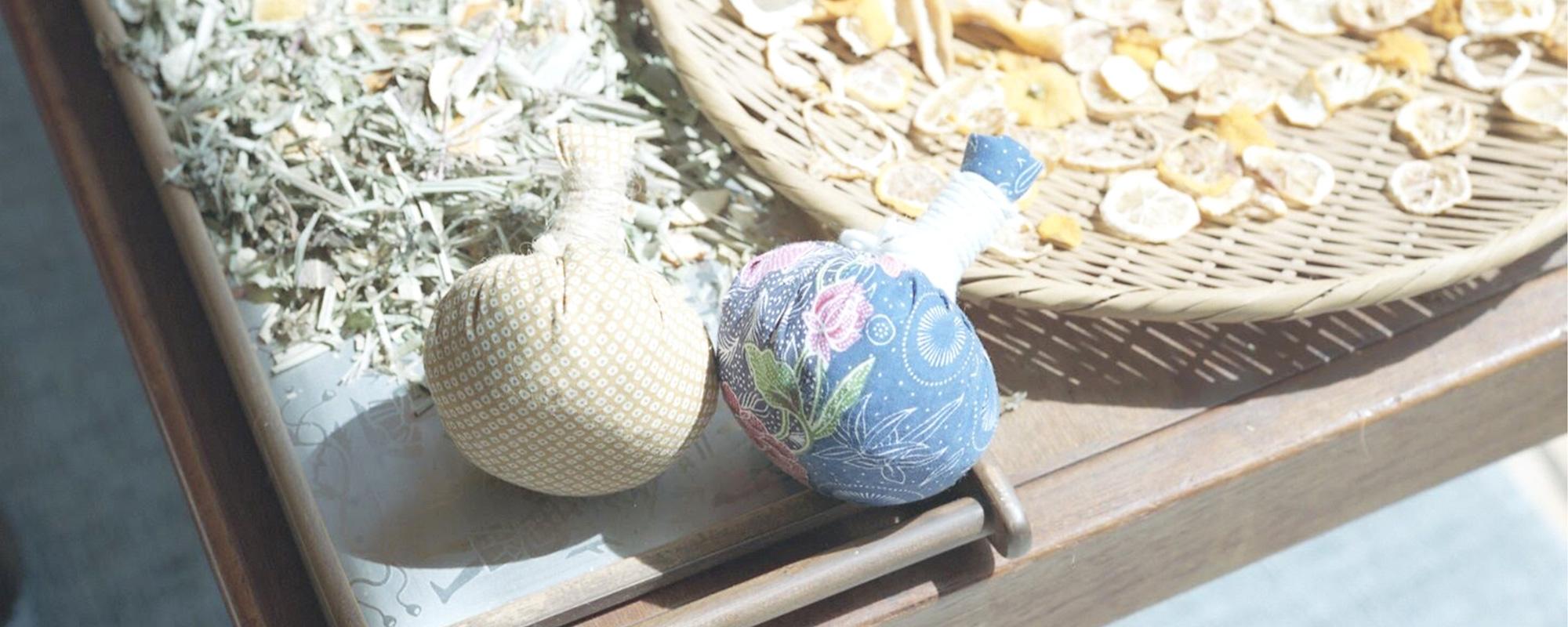 和草ハーブサロンくつろかで使用している和草ハーブボール